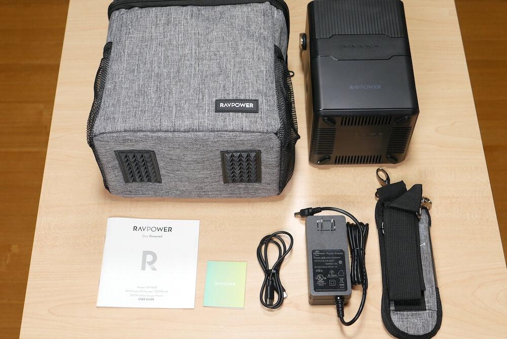 RAVPower RP-PB187の外観と付属品