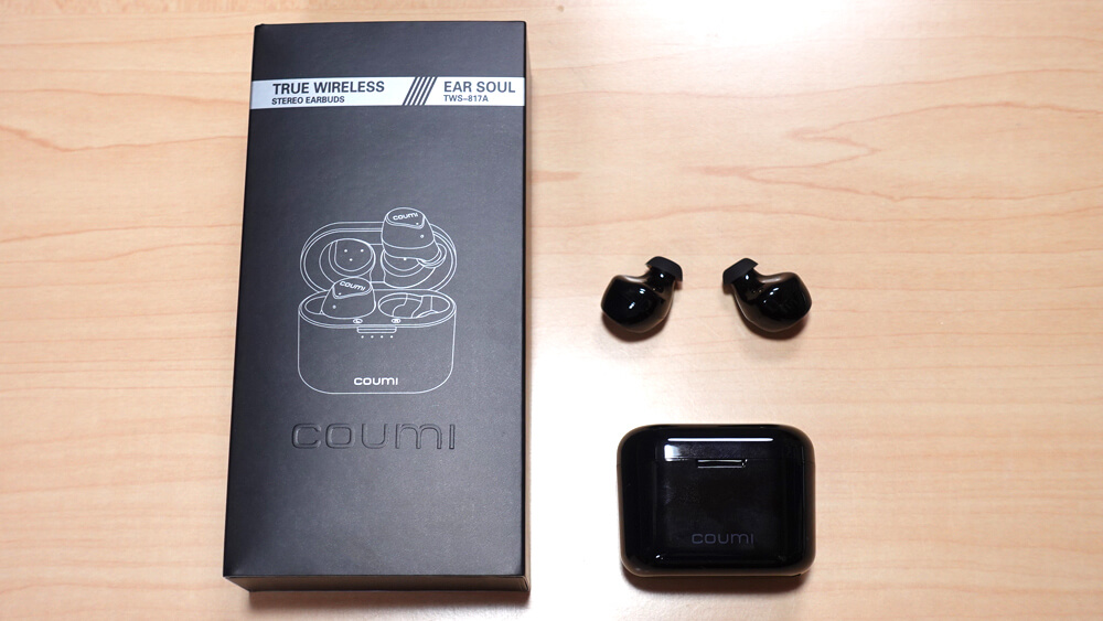 COUMI Ear Soul TWS-817A レビュー:EQアプリが秀逸な格安ワイヤレスイヤホン