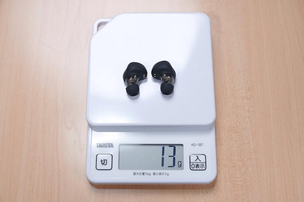 SOUNDPEATS H1の重量は13g
