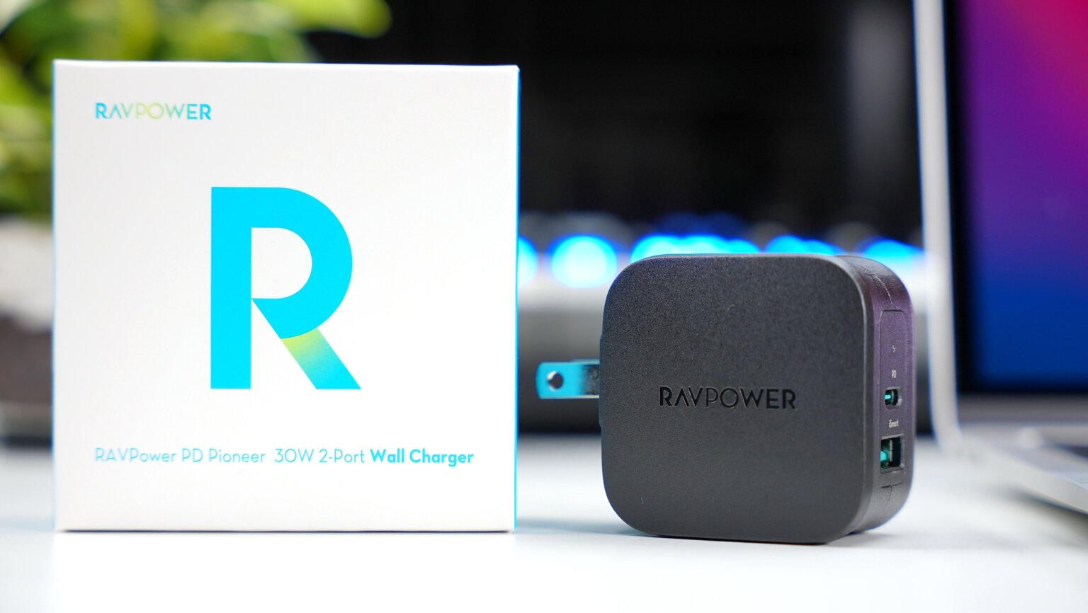 RAVPower RP-PC144 レビュー:小さいながらも最大30W出力!2ポート搭載のちょうどいいUSB充電器