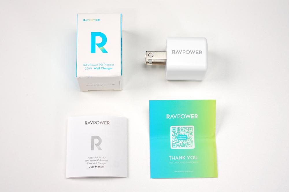 RAVPower RP-PC150の内容物、外観